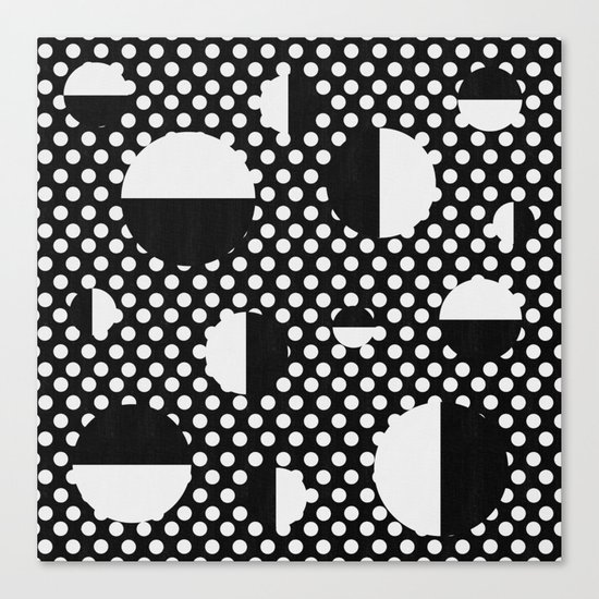 It's Black, It's White Canvas Print