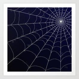 Spiderweb on Midnight Art Print