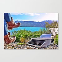 not all who wander are lost Canvas Prints featuring Not All Who Wander by Irish Kiwi Postcards