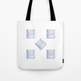 Rough stripes in blues Tote Bag