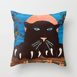 Brite Eyes Throw Pillow
