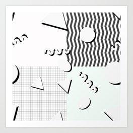 Pale 80s Pattern Art Print
