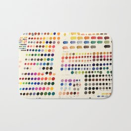 Artist Color Swatches - watercolor, prisma, paints Bath Mat