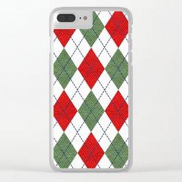 Argyle Christmas Spirit Clear iPhone Case