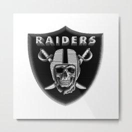 Raiders Skull 3D Metal Print