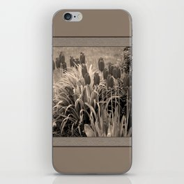 old timey tulips (square) iPhone Skin