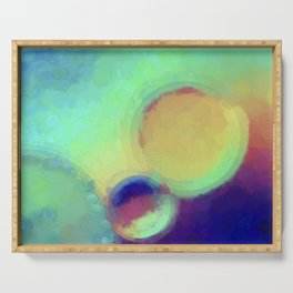 Colorful Abstract Painting Serving Tray