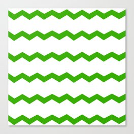 Green Chevron Canvas Print