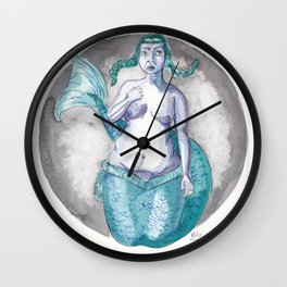 CHARLOTTE mermaid Wall Clock