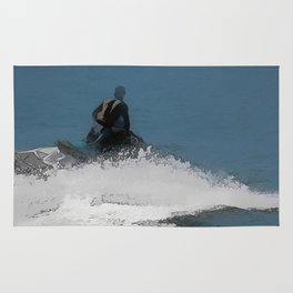 Ready to Make Waves - Jet Skier Rug