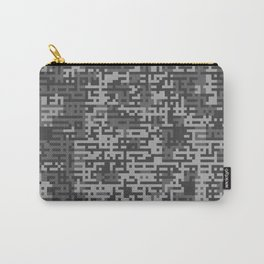 Pixelized Abstract Pattern / GRAY Carry-All Pouch