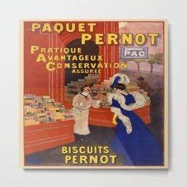 Vintage poster - Biscuits Pernot Metal Print