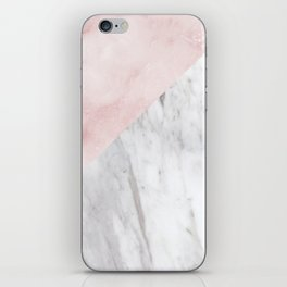 Marchionne Bianco & Silvec Rosa marble soft pink iPhone Skin