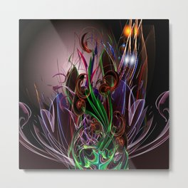 Moonlight Garden Metal Print