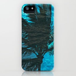 SWIMMING PALM iPhone Case