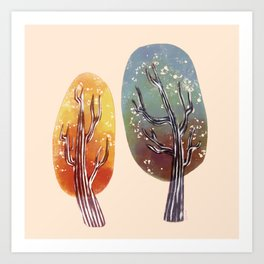 Whimsy Trees Art Print