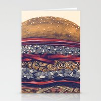burger Stationery Cards featuring burger by mr. louis
