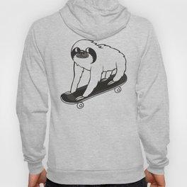 Skateboarding Sloth Hoody