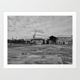 Urban Island Exploration Art Print