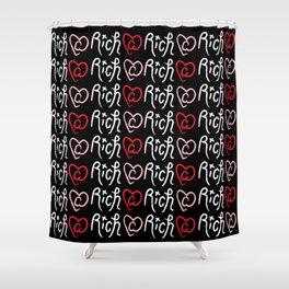 Ri¢h @ Heart Shower Curtain