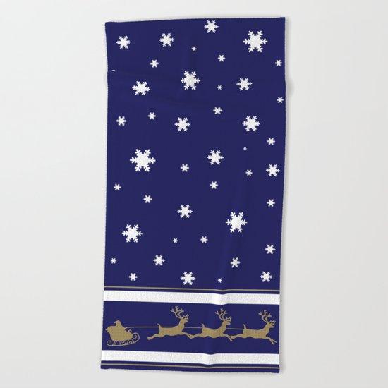 Christmas Santa Claus Beach Towel