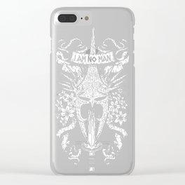 I AM NO MAN Clear iPhone Case