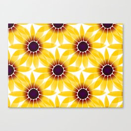 yellow sunhat - flowers, flowers, sunny, nature, pattern Canvas Print