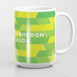Boustrophédon Coffee Mug