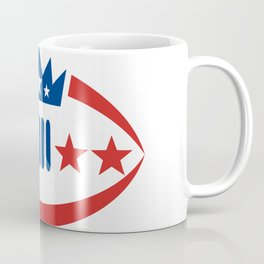 American Football Ball Crown Star Icon Coffee Mug
