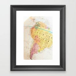 Maps Framed Art Print