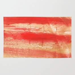 Burnt sienna abstract watercolor Rug