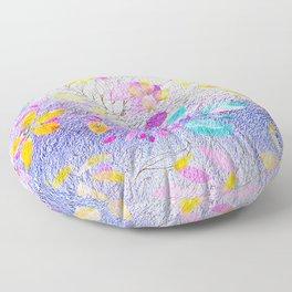 foil flowers Floor Pillow