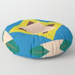 Kilim flower Orange  #homedecor #midcenturymodern #midcentury Floor Pillow