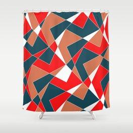 Broken Pattern (Red) Shower Curtain