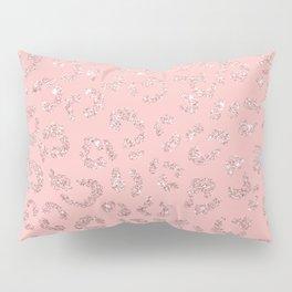 Modern faux rose gold glitter leopard ombre pink pattern Pillow Sham