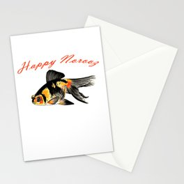 Happy Norooz Demekin Goldfish Persian New Year Stationery Cards