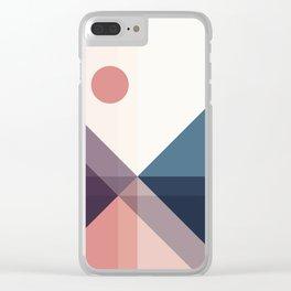 Geometric 1706 Clear iPhone Case