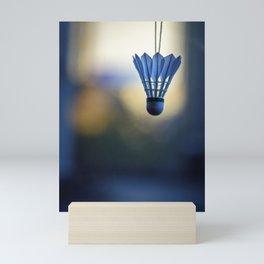 Portrait of badminton shuttlecock Mini Art Print