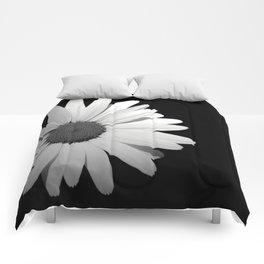 Black & White Half Flower Comforters