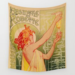 Classic French art nouveau Absinthe Robette Wall Tapestry