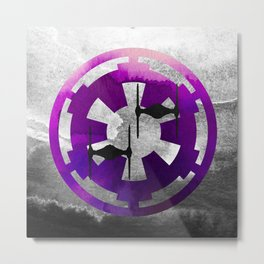 Star Wars Imperial Tie Fighters in Purple Metal Print