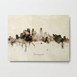 Minneapolis Minnesota Skyline Metal Print