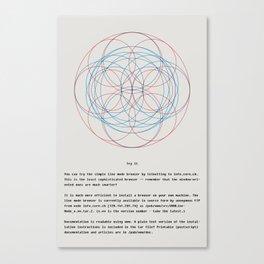 theweb08.png Canvas Print