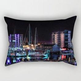 Barbican Marina By Night Rectangular Pillow