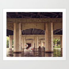 Floating the River! Art Print