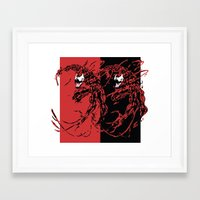 carnage Framed Art Prints featuring Carnage by Young Jake