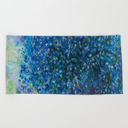 Bouquet Of Forget Me Nots by Lena Owens Beach Towel