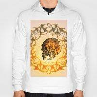 sugar skull Hoodies featuring Sugar skull by nicky2342