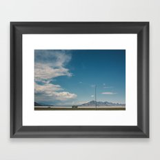 Bonneville Salt Flats Utah USA Framed Art Print