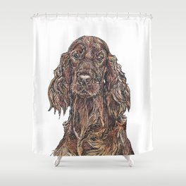 Red Setter Shower Curtain